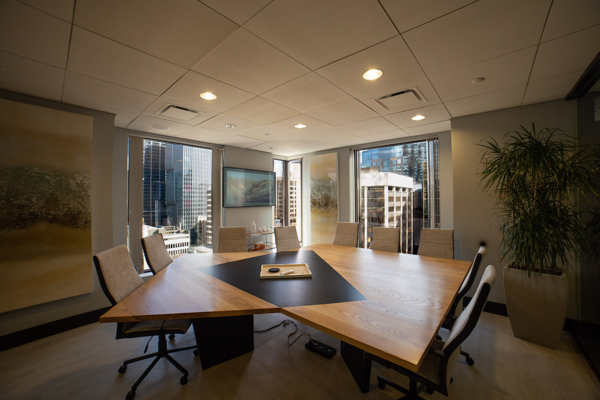downtown vancouver family law boardroom